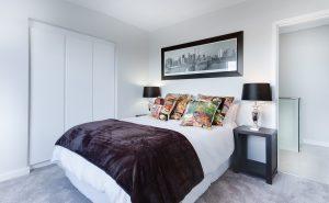 床褥, 室內設計, 床架, 枕頭, 睡房設計, 睡房, 毛氈